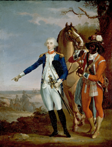 Lafayette at Yorktown by Jean-Baptiste Le Paon
