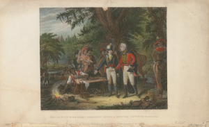 general francis marion inviting a british officer to dinner