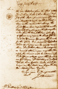 Letter from J M Varnum to George Washington 2 January 1777